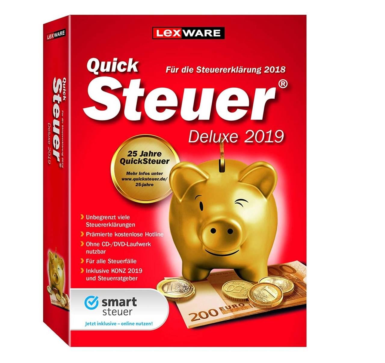 Lexware QuickSteuer Deluxe 2019 for the tax return 2018 download