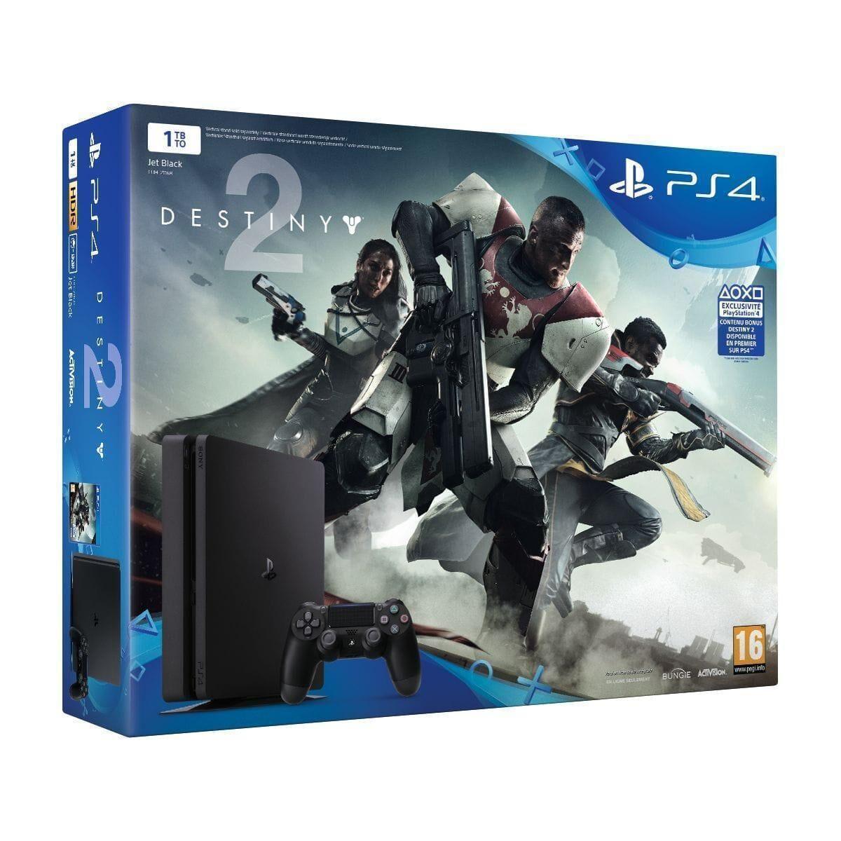 Refurbished-Very good-PlayStation 4 Slim  HDD 1 TB Black