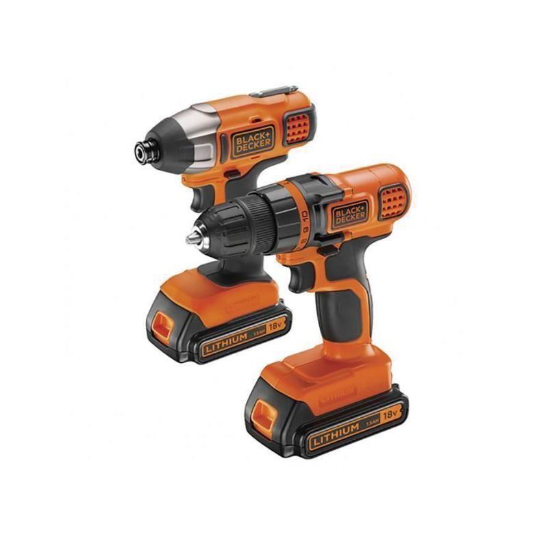 Refurbished-Mint-Drill and Screwdriver Black & Decker BDCDDIM18B Orange/Black