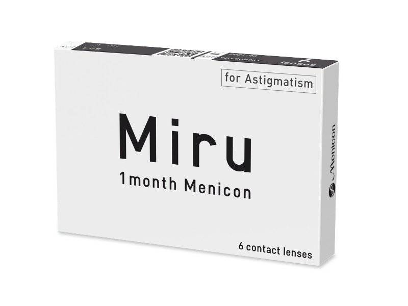 Miru 1 Month Menicon for Astigmatism