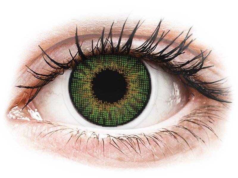 Green contact lenses - natural effect - power - Air Optix