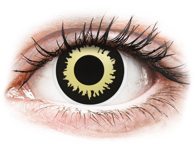 Yellow Eclipse contact lenses - ColourVue Crazy