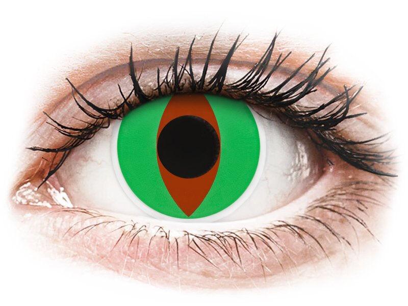 Green Raptor contact lenses - ColourVue Crazy