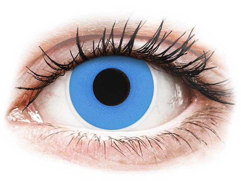 Sky Blue contact lenses - ColourVue Crazy