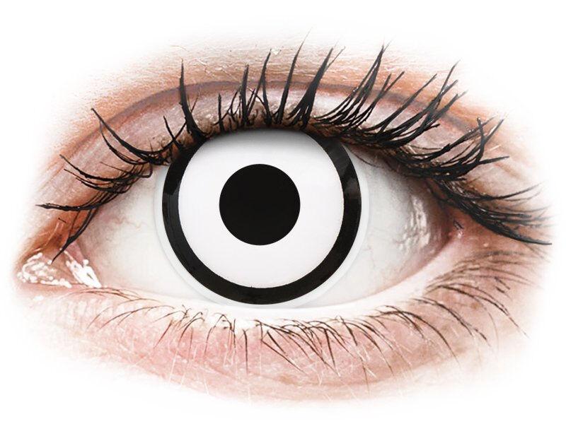 White Zombie contact lenses - power - ColourVue Crazy