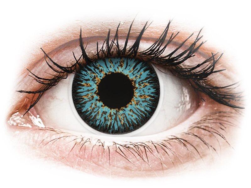 Blue Aqua Glamour contact lenses - ColourVue