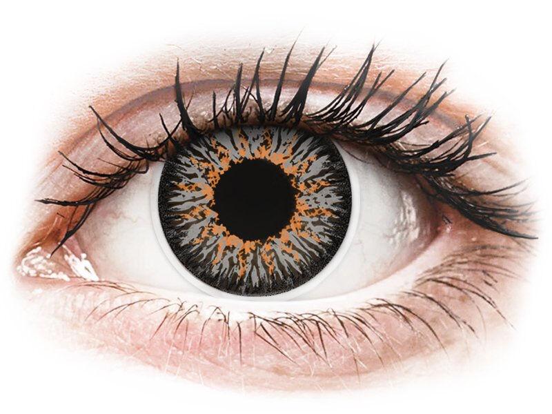 Grey Glamour contact lenses - power - ColourVue