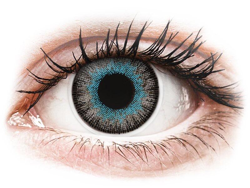 Blue Grey Fusion contact lenses - ColourVue