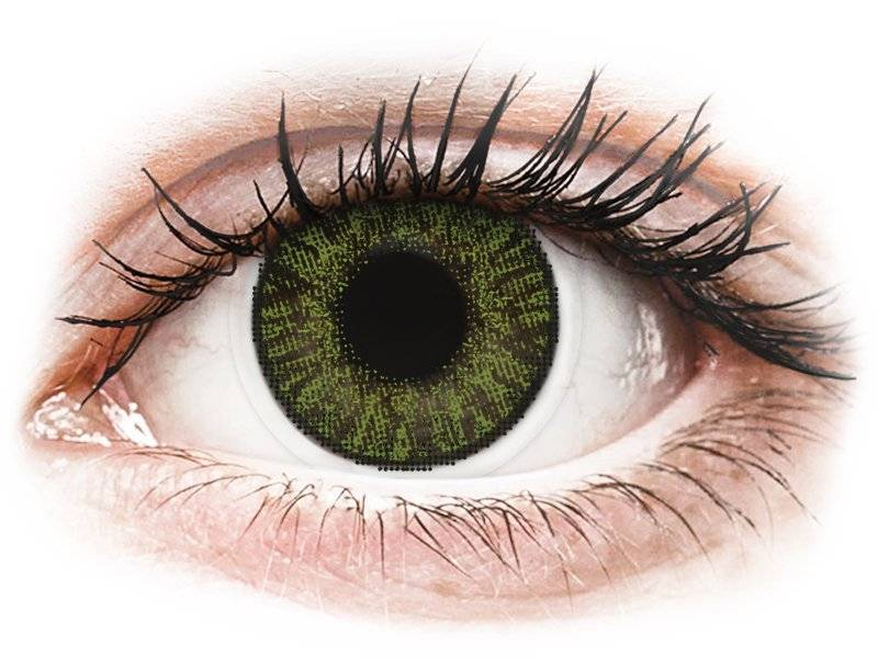 Green contact lenses - FreshLook ColorBlends - Power