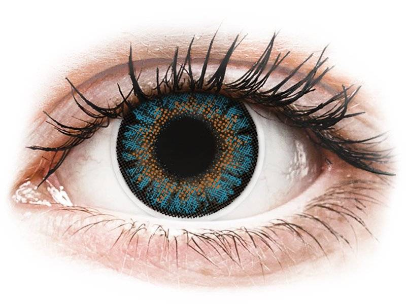 Blue One Day TruBlends contact lenses - ColourVue - Power