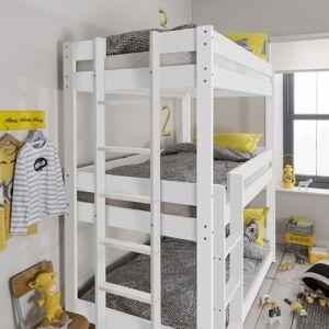 Noa and Nani Henrik Triple Bed Bunk Triple Sleeper in Classic White