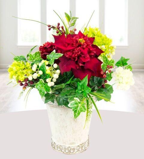 Prestige Hampers Silk Poinsettia Hamper - Gift Basket - Prestige Hampers