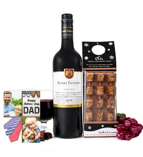 Prestige Hampers Luxury Wine & Chocolate with Card Hamper - Gift Basket - Prestige Hampers