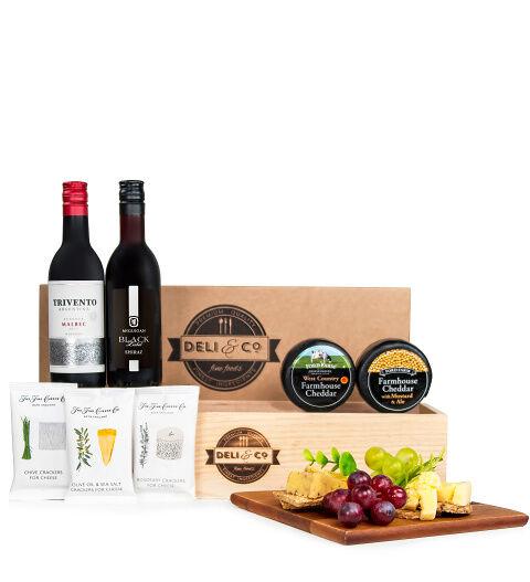 Prestige Hampers Deli & Co Cheese and Wine - Cheese and Wine Hampers - Cheese and Wine Gifts - Cheese and Wine Hamper Delivery - Cheese and Wine Gift Delivery