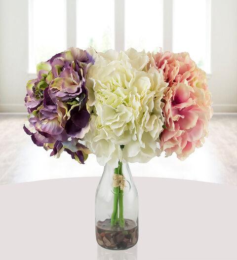 Prestige Hampers Silk Hydrangea Bouquet Hamper - Gift Basket - Prestige Hampers