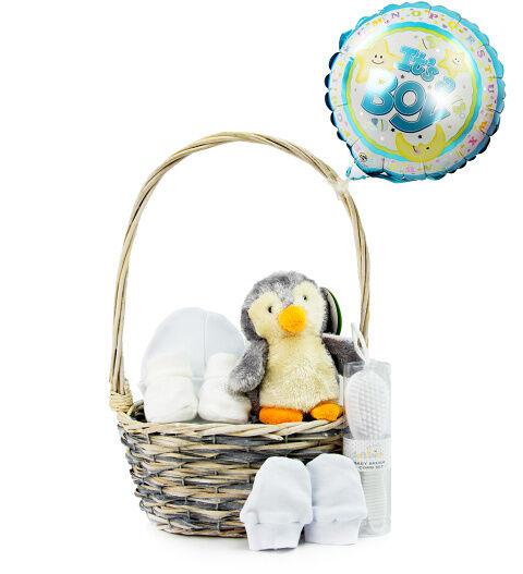 Prestige Hampers Baby Boy Essentials Gift Basket - Baby Boy Hampers - Baby Boy Gifts - New Baby Boy Gift Delivery - New Baby Boy Hampers - Prestige Hampers
