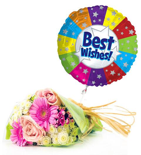 Prestige Hampers Best Wishes and Bouquet Hamper - Gift Basket - Prestige Hampers
