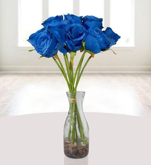 Prestige Hampers Silk Blue Roses Hamper - Gift Basket - Prestige Hampers