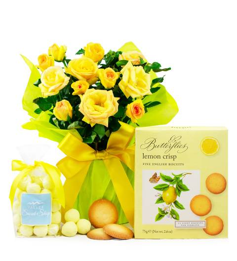 Prestige Hampers Lemon Rose Gift - Yellow Rose Plant - Birthday Gifts - Plant Gifts - Rose Plants