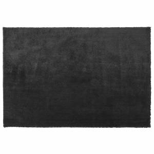 Beliani Modern Area Fluffy Rug Shaggy High-Pile 140 x 200 cm Black Evren
