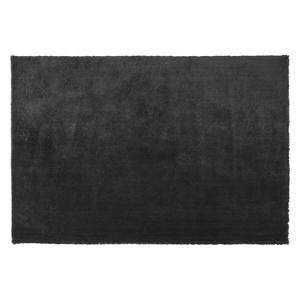 Beliani Modern Area Fluffy Rug Shaggy High-Pile 140 x 200 cm Black Evren