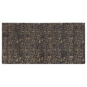 Beliani Viscose Area Rug 80 x 150 cm Living Room Rug Grey Gold Pattern Esel