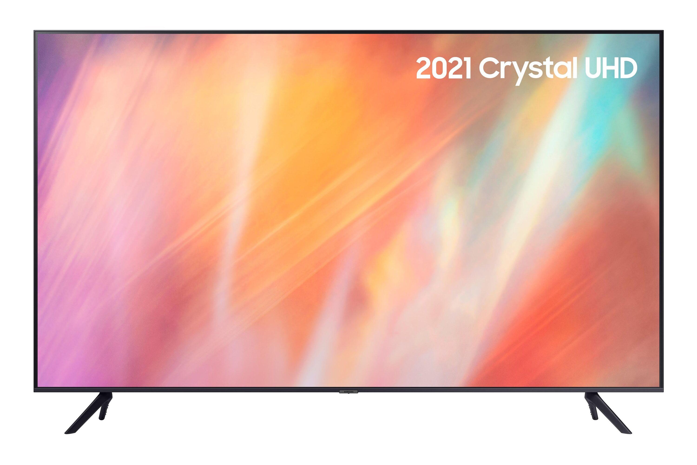 """Samsung 85"""" AU7100 UHD 4K HDR Smart TV (2021) in Grey (UE85AU7100KXXU)"""