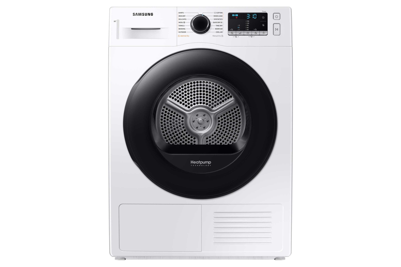 Samsung DV5000 Heat Pump Tumble Dryer A++, 8kg in White (DV80TA020AE/EU)