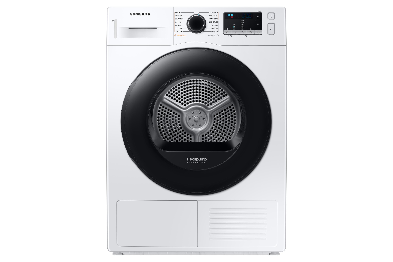 Samsung DV5000 Heat Pump Tumble Dryer A++, 9kg in White (DV90TA040AE/EU)