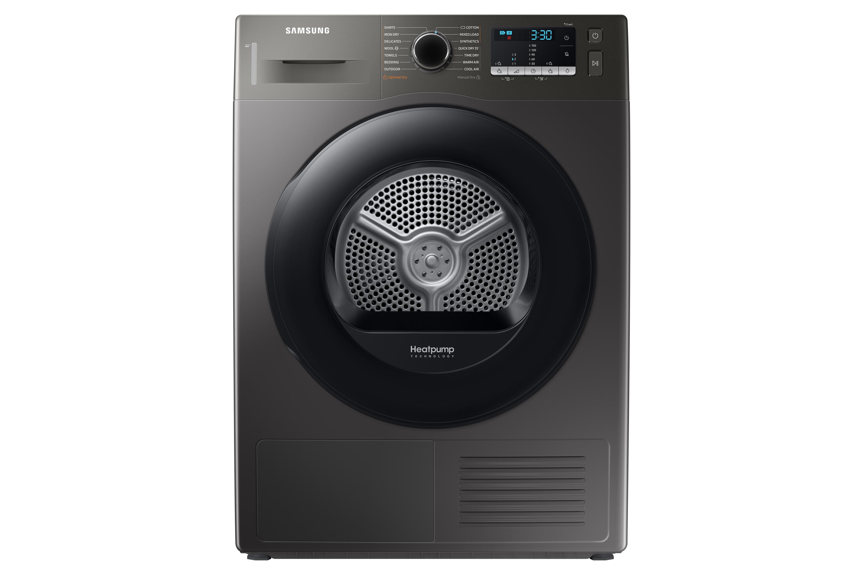 Samsung DV5000 Heat Pump Tumble Dryer A++, 9kg in Silver (DV90TA040AX/EU)