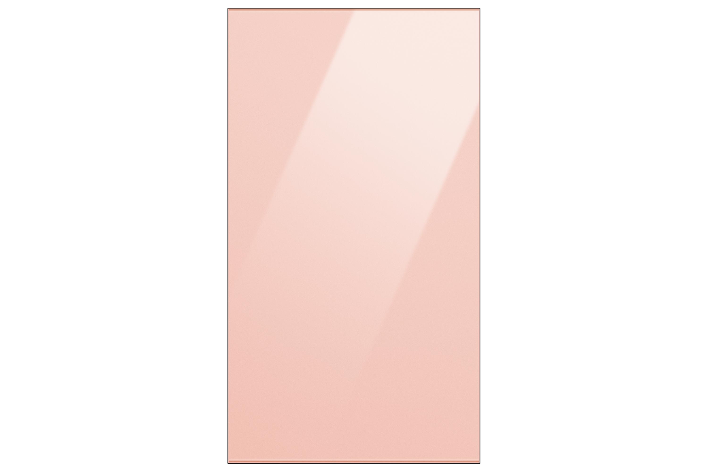 Samsung Bespoke Glass Top Panel for 1.85m Fridge freezer in Glam Peach (RA-B23EUU17GG)
