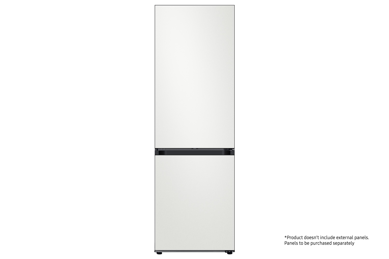 Samsung Bespoke 1.85m Fridge Freezer ready for customisable colour panels in White (RB34A6B0EAP/EU)