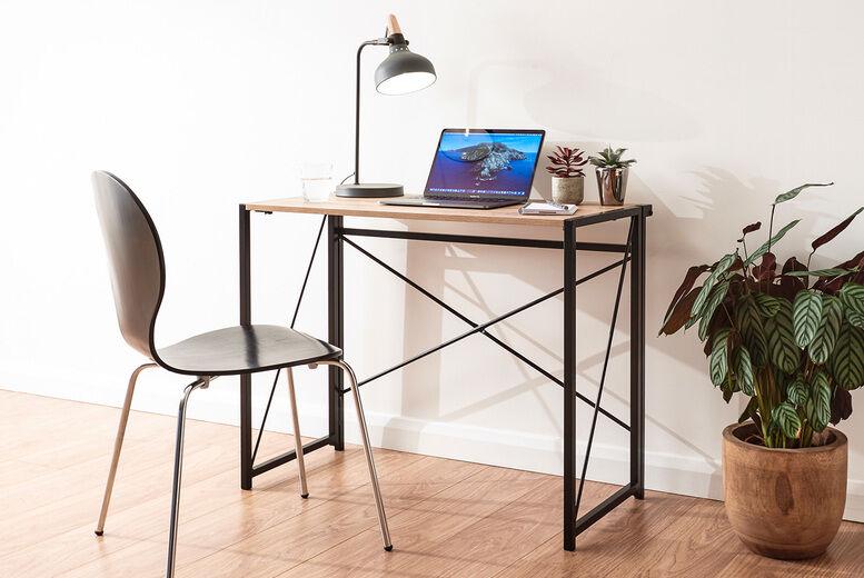 Fulfilled by Wowcher £49 for a sonoma oak folding desk