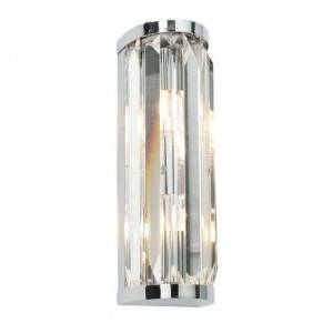 Saxby 39629 Crystal 2 Light Wall Fitting In Polished Chrome And Crysta