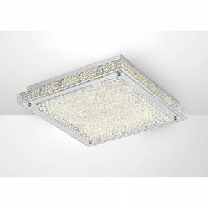 Diyas IL80072 Amelia LED Large Flush Ceiling Fitting In Stainless Stee