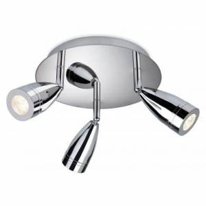 Firstlight Storm 3 Light LED Circular Ceiling Plate in a Polished Chro