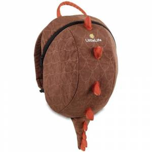 LittleLife Kids ActiveGrip Animal Backpack - Dinosaur  - Dinosaur - Size: ONE