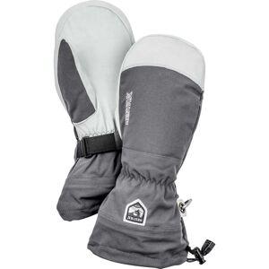 Hestra Army Leather Heli Ski Mitt - Grey  - Size: 8