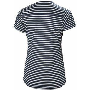 Helly Hansen HH Women's Merino Graphic T - Navy Stripe  - Size: Large
