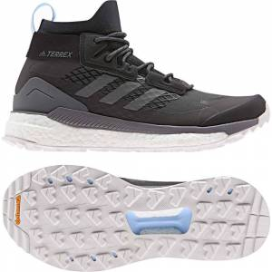 adidas Terrex Women's Free Hiker Gore-Tex Hiking Shoes - Carbon/G  - Size: 5