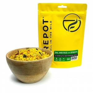 Firepot Dal and Rice + Spinach  - Size: ONE