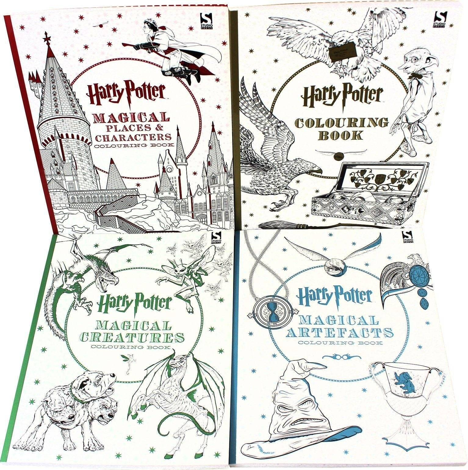 Studio Press Harry Potter 4 Colouring Books Collection Set By Warner Brothers - Paperback