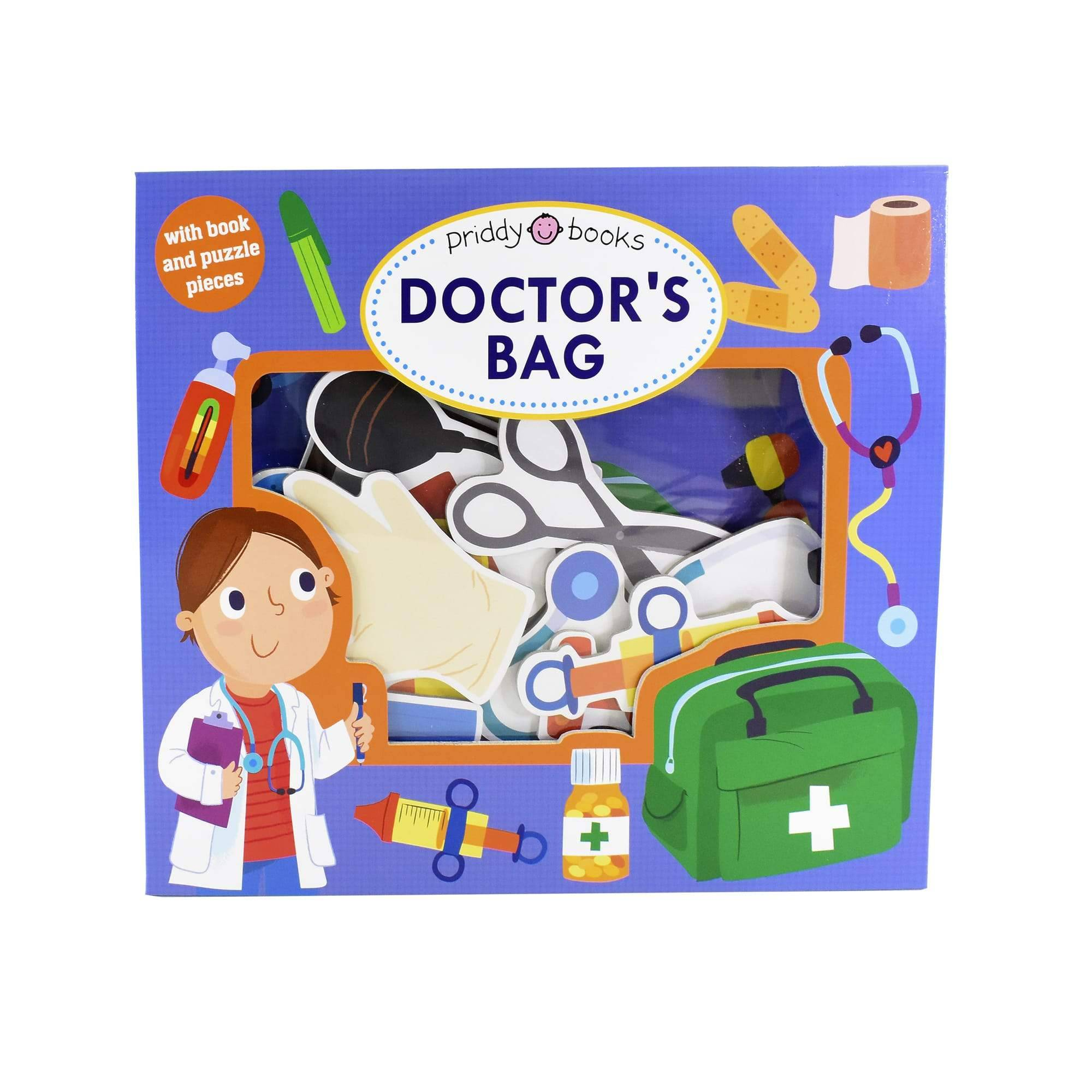 Priddy Books Lets Pretend Doctors Bag by Roger Priddy - Ages 0-5 - Board Book