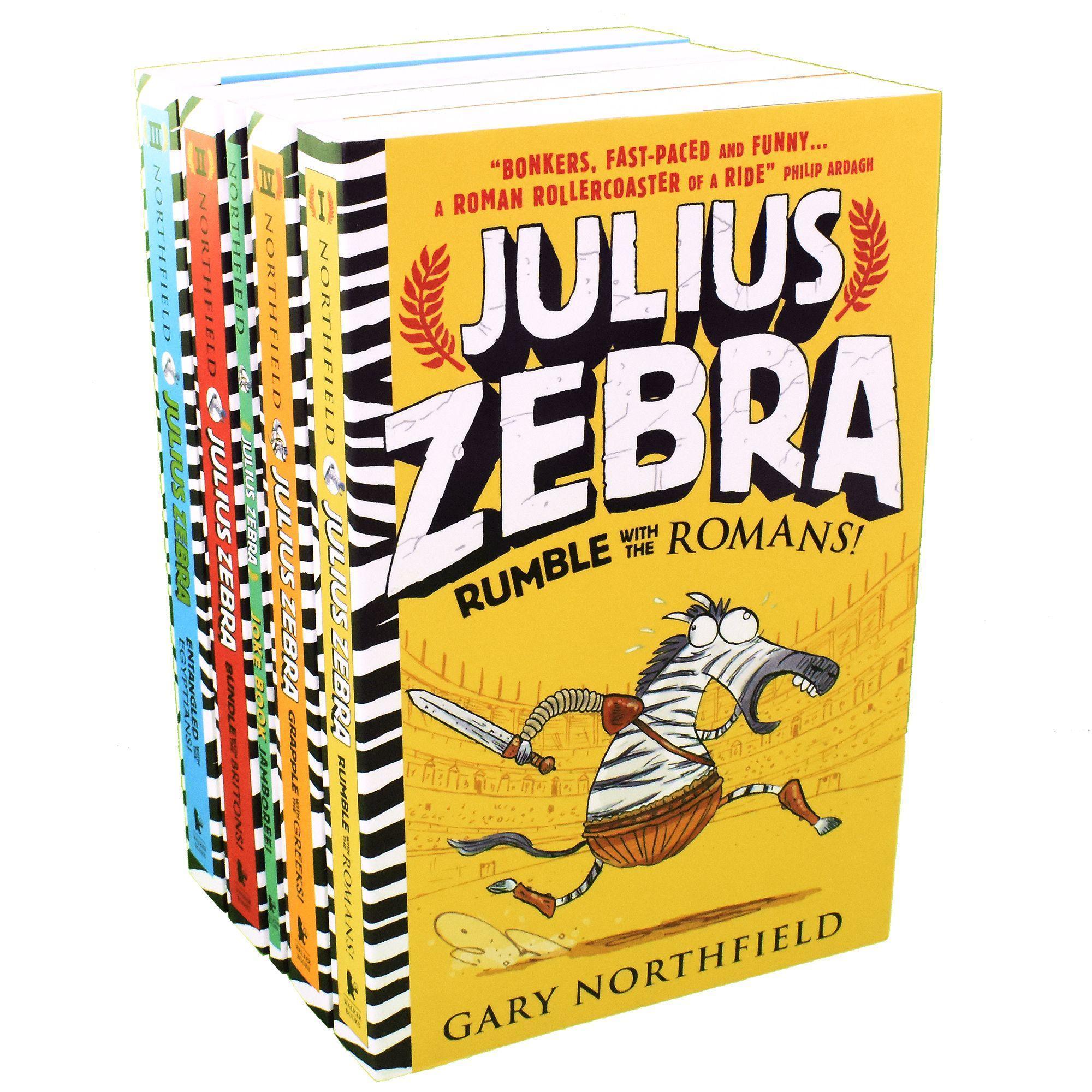 Walker Books Julius Zebra 5 Kids Books Children Collection by Gary Northfield - Ages 7-9 - Paperback