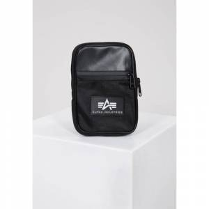 Alpha Industries Rubber Print Utility Bag Colour: 03 Black, Size: One