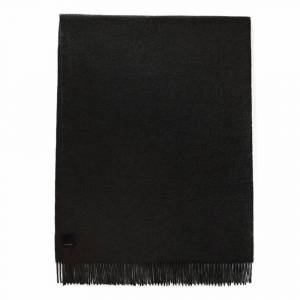 Canada Goose Solid Woven Mens Scarf Colour: Black, Size: One Size