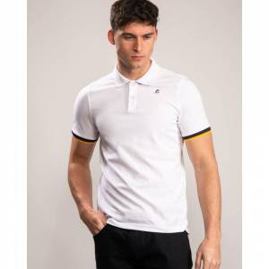 K-Way Vincent Contrast Polo Colour: White, Size: M