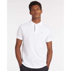 Barbour Tartan Pique Mens Polo Colour: White, Size: M