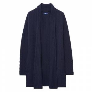 GANT Cable Wrap Ladies Cardigan Colour: Navy, Size: S