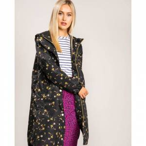 Joules Waterproof Mesh Lining Womens Raincoat 208713 Colour: Black Pri